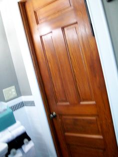 Painted trim with stained doors..this is what I needed to go ahead ...