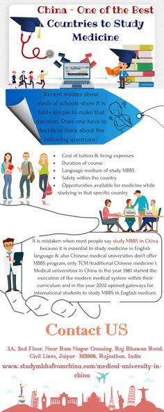 #Medical #universities #in #China in the year 1981 started the execution of the modern medical system within their #curriculum and in the year 2002 opened gateways for #international #students to #study #MBBS in #English medium. Get more info- goo.gl/fvn6Rg #Medicaluniversitiesinchina #Chinamedicalcollege #Medicaladmissioninchina