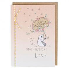Panda & umbrella Mother's day card