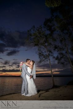 Double Island Point Wedding Photography - Sunset Wedding Photo - Melissa and Travis - NKN Photography