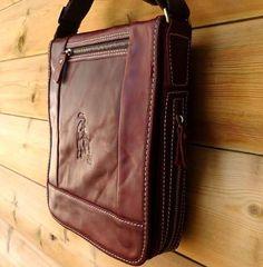Genuine Full Leather Men Messenger Shoulder Bag « Clothing Impulse