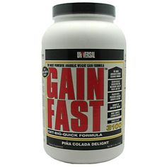 "Universal Nutrition Gain Fast 3100, Pina Colada Shake, 5.1-Pounds  "" Fitness ""Muscle Building"""