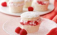 Raspberry Cream Cupcakes Recipe by Giada De Laurentiis