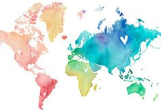 watercolor map...love this!