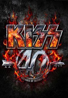 40 Years Decades of Decibels Tour Book Kiss Rock Bands, Kiss Band, Kiss Online, Kiss World, Kiss Logo, Play That Funky Music, Heavy Rock, Live Wallpaper Iphone, Hot Band