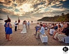 Portland Wedding Photographer - Manuel Antonio National Park Costa Rica Wedding: A beautiful sunset at this Manuel Antonio National Park Costa Rica Wedding on the beach really set the mood. Location: Manuel Antonio National Park.
