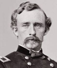 George Armstrong Custer in short hair. How young he looks. He loved the outdoor life on the far western frontier of the Dakotas and admired the Indians who struggled with the changes being forced upon them..