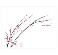 "Cherry Blossom Wedding Program   Wedding Programs 11"" x 8.5"" unfolded $0.55"