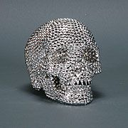 Bedazzled skull - I'm totally seeing a bedazzled/harlequin display shaping up.