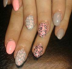 57 nails - gel - růžový šedý + razítka