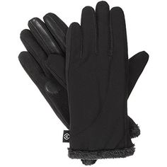Isotoner Women's Smartouch Matrix Glove, Charcoal, Medium/Large