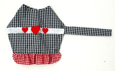 Gingham Small Dog's Dress Made to Order $23.95 #pets #gifts by BloomingtailsDogDuds