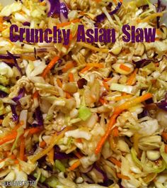Crunchy Asian Coleslaw - I make this without the almonds so my son can eat it too!
