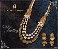 In a class by Itself! Buy this amazingly Royal Jewellery Collection at Nikkamal Jewellery, Ludhiana & Jalandhar Showrooms. #nikkamaljewellers #gold #diamond #kundan #polki #platinum #watches #jewellery #jewelry #indianjewellery