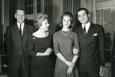 King Frederik and Queen Ingrid at the Engagement of King Constantine and Queen Anna Maria