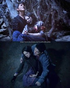 Young Derek Hale (Ian Nelson) & his first love, Paige (Madison McLaughlin)... Scott & his first love, Allison... Both had their first loves die in their arms!