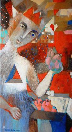 """Saatchi Art Artist Marina Borodulya; Painting, """"'The Queen is in love'"""" #art"""
