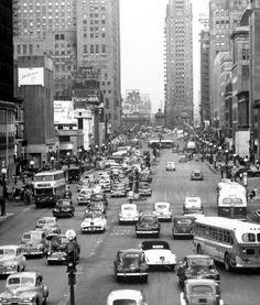 Michigan Ave, 1952, Chicago