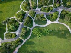 Park Landscape, Landscape Plans, Rooftop Garden, Public Garden, Plant Design, Garden Design, Green Corridor, Landscape Materials, Landscape Architecture Design