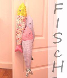 Fisch aus Baumwollstoff genäht