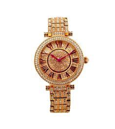 Jaipur Watch Company Rose Gold & Purple Swarovski Studded Women Watch