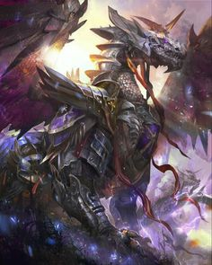 War-Rustu, dragon of wars and battles Mythical Creatures Art, Mythological Creatures, Magical Creatures, Dragon Armor, Dragon King, Dragon Slayer, Dragon Medieval, Pet Anime, Cool Dragons