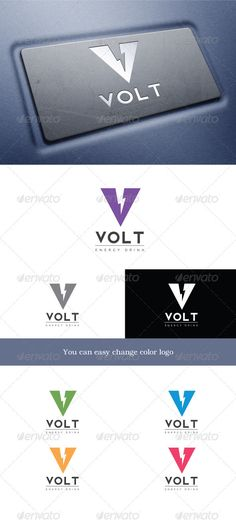 Volt  #GraphicRiver        Volt 	 Logo forms the letter V. It symbolizes energy, lightning, power, volt. Logo may well be appropriate for energy drinks, as well as energy-related companies.