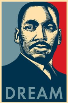MLK Dream in style of Shepard Fairey - perfect poster for protesting! #BlackLivesMatter