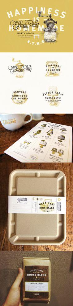 Ellie's Table branding and packaging