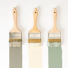 This mornings colors are Garden Trowel, Soft Landing, and Silverado Sage. Which one is your favorite? See the full collection through the link in profile. (Colors from left to right) #MagnoliaHomePaint #magnoliamade