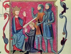 Investiture of a Knight, from the 'Metz Codex', 1290 (vellum)