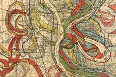 Map of the Mississippi for the past 1,000 years or so.