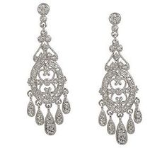 As Is Nadri Edwardian Style Chandelier Earrings