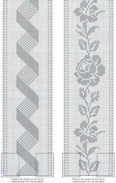 If you looking for a great border for either your crochet or knitting project, check this interesting pattern out. When you see the tutorial you will see that you will use both the knitting needle and crochet hook to work on the the wavy border. Crochet Bedspread Pattern, Crochet Table Runner Pattern, Crochet Curtains, Crochet Tablecloth, Tapestry Crochet, Filet Crochet Charts, Crochet Borders, Crochet Motif, Crochet Designs