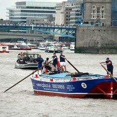 Dolphin during the Annual Thames Barge Driving Match on Saturday.