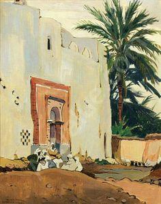 Algérie - Peintre Néerlandais VAN MENS Isidore (1890-1985 ), huile sur toile ,Titre : Ghardaia
