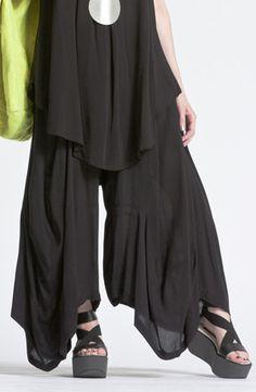 Odyssey Pant in Black Crinkle