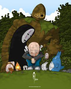 Pelonchis & Studio Ghibli By: Alex Tercero Año: 2017 Software: SketchbookPro Photoshop My Escape, Studio Ghibli, Mickey Mouse, Disney Characters, Fictional Characters, Software, Photoshop, Artwork, Third