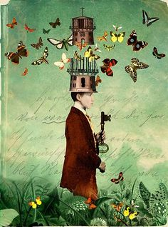Graphic artist Catrin Arno has a beautiful portfolio of mixed media surreal collage work. via she walks softly