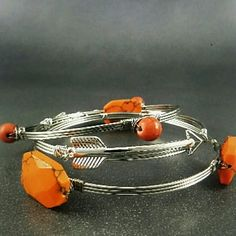 3 in 1 Arrow & Natural Stone Wired Bangle Bracelet Brand New Bundle & save up to 20 % discounts or more No PayPal No Trade  3 PCS Wired Bangle Bracelet You can wear it individually  Hypoallergenic Nickel Free  Great for Sensitive Skin Last One! zdazzled Jewelry Bracelets
