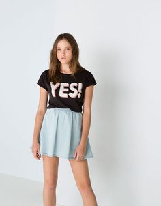 Camiseta texto de Bershka (6 €)
