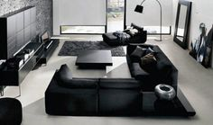 Black and silver living room inspirations | www.bocadolobo.com/ #livingroomideas #livingroomdecor