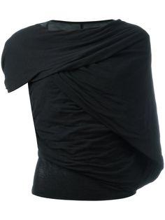 RICK OWENS Asymmetric Sleeved T-Shirt. #rickowens #cloth #t-shirt