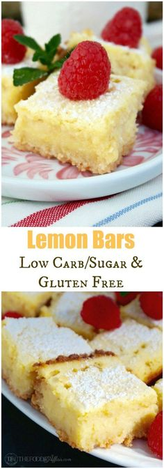 Lemon Bars that are low carb and gluten free! These delicious bars have all the flavor of an ordinary bar but can be enjoyed by those watching their carb and sugar intake. Keto friendly too!
