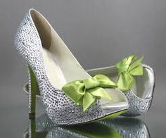 lime green and silver wedding - Google Search