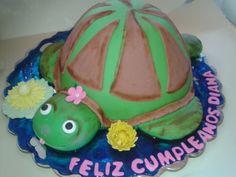 Queque personalizado de tortuga