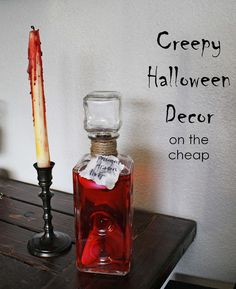 Creepy Halloween Decor (on the cheap)