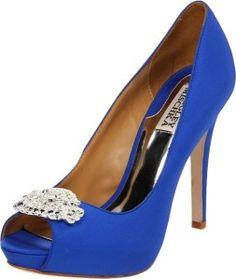4e42dc7d679e3f 2013 high heel royal blue Badgley Mischka shoes for women - designer peep  toe Bride Shoes