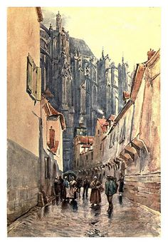 003-Beavais lateral de la catedral-Sketches on the old road through France to Florence-1905- Alexander Henry Hallam Murray