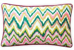 Love these colors.. 12x20 Ikat Pillow, Pink on OneKingsLane.com